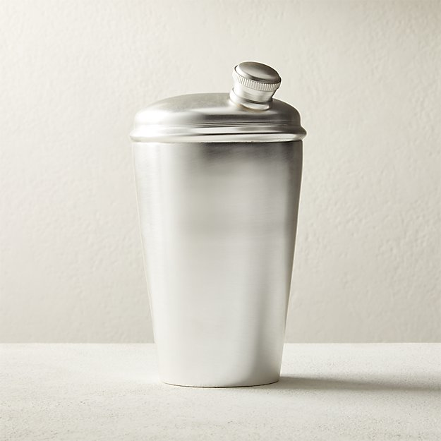 Degroff Silver Cocktail Shaker - Image 1 of 2
