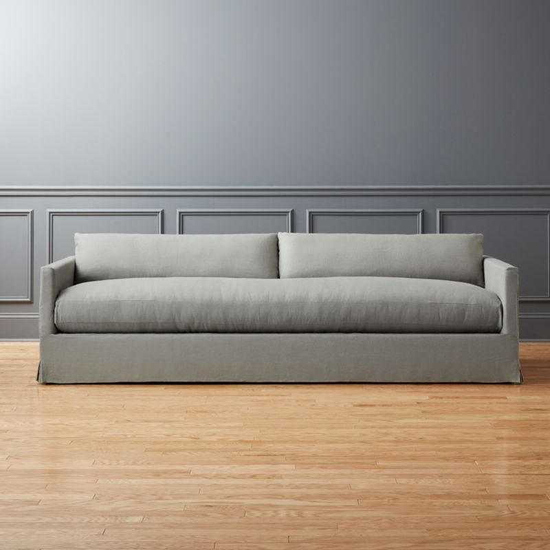 Delightful Delphine Linen Slipcover Sofa