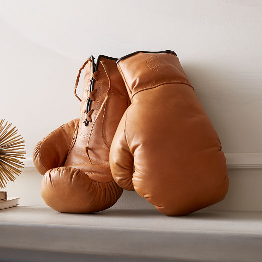 Deluxe Tan Leather Boxing Gloves