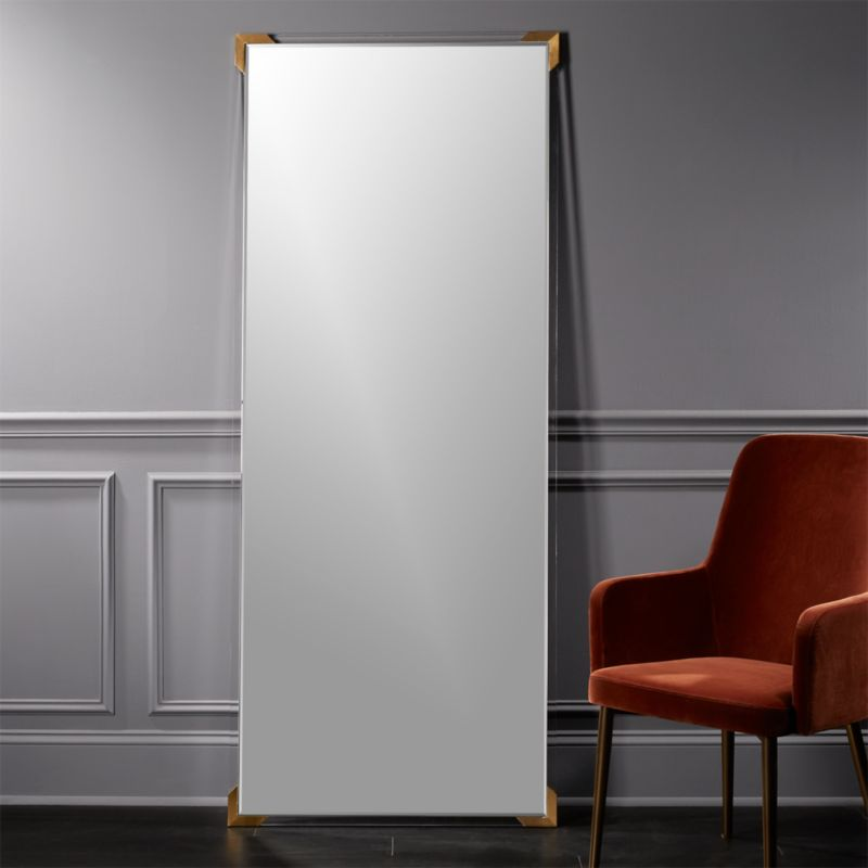 Demi Acrylic Floor Mirror ...