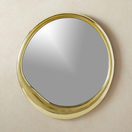 """Demura Brass Round 24"""" Mirror"""