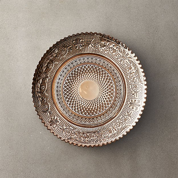 Devi Bronze Glass Appetizer Plate - Image 1 of 3
