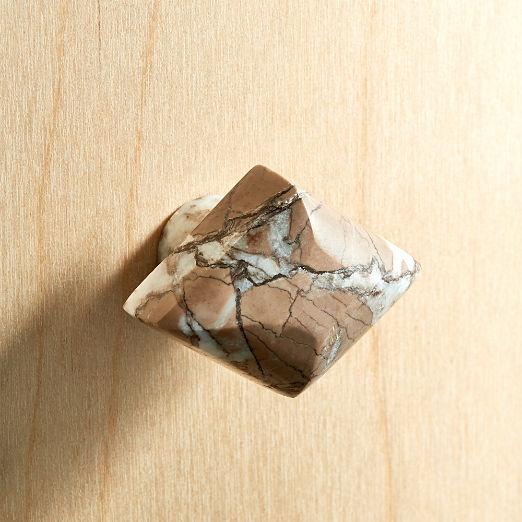 Diamond Brown Stone Knob