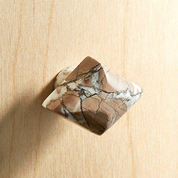 Diamond Brown Stone Knob - Image 1 of 3