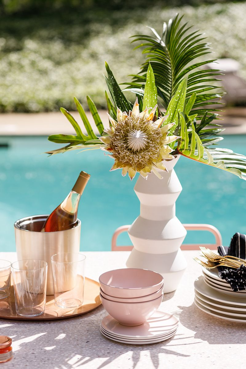 Outdoor party decorating ideas with Sarah Sherman Samuel and CB2
