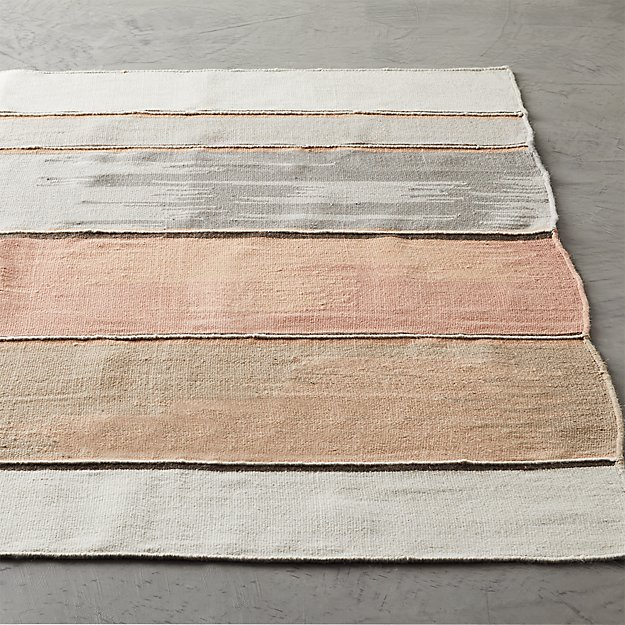 Dip Neutral and White Rug - Image 1 of 8