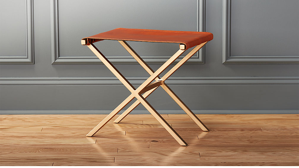leather director\'s stool + Reviews | CB2