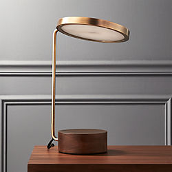 Modern table lamps cb2 tate led usb table lamp aloadofball Image collections