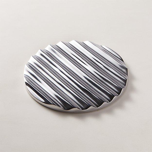 Disc Polished Aluminum Trivet - Image 1 of 3