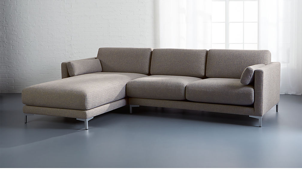 District 2-Piece Sectional with Chaise + Reviews | CB2