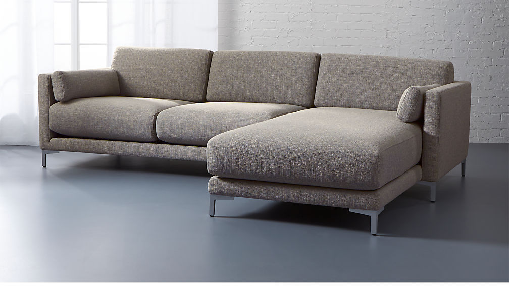 District 2-Piece Sectional Sofa + Reviews | CB2