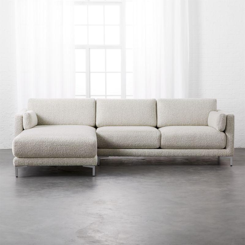 District 2 Piece Grey Sectional Sofa