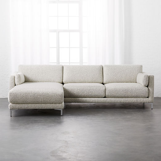 District 2 Piece Grey Sectional Sofa