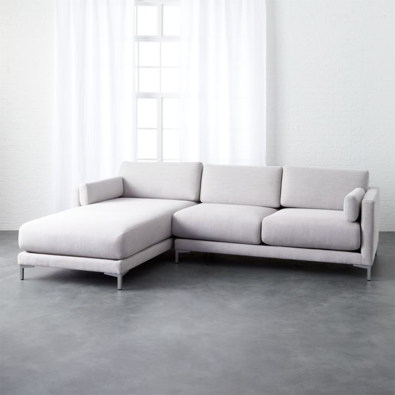 Genial District Dove 2 Piece Sectional Sofa