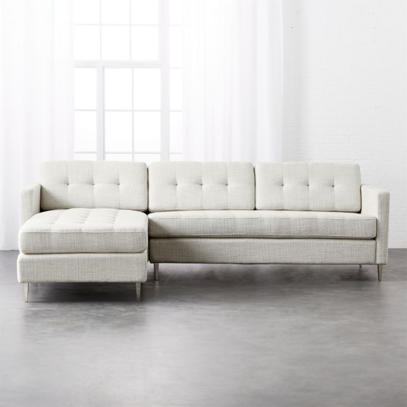 Ditto Ii Grey Mist Tufted Sectional Sofa
