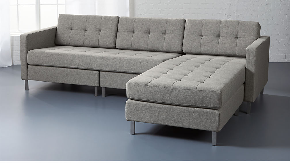 Ditto Ii Button Tufted Sectional Sofa Reviews Cb2