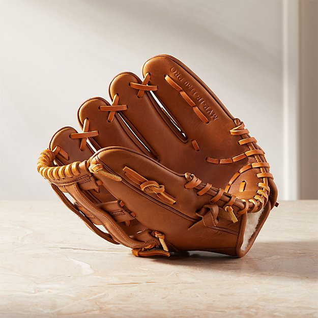 Deluxe Tan Leather Baseball Glove - Image 1 of 8