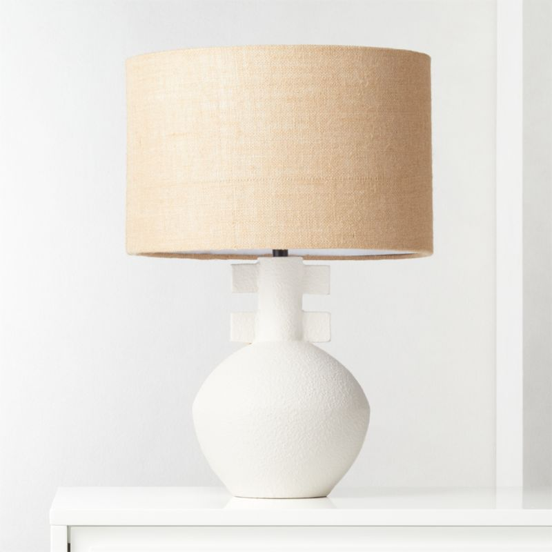Domani Textured White Table Lamp Reviews Cb2