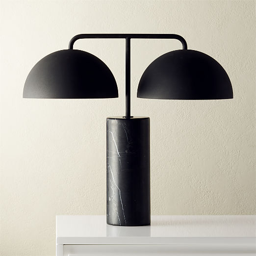 Domes Black Marble Table Lamp