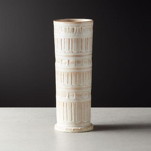 Dominic Tall White Vase