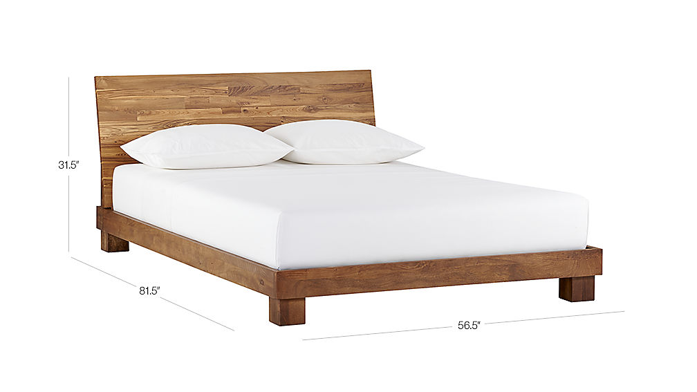 Image with dimension for Dondra Teak Full Bed