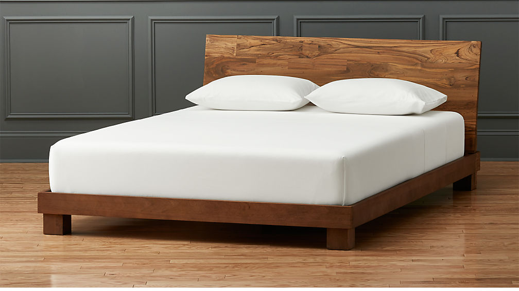 Dondra Teak Queen Bed + Reviews | CB2