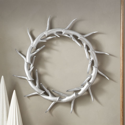 Donner Small Silver Antler Wreath