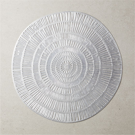 Doodle Round Placemat Silver