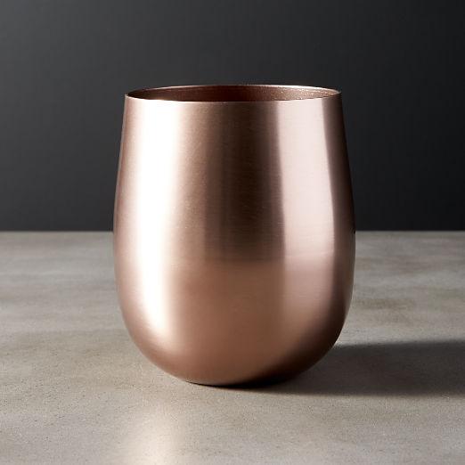 Doris Bronze Aluminum Stemless Wine Glass
