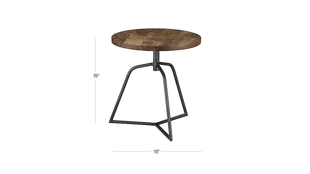 Image with dimension for dot acacia side table-stool