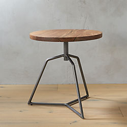 Dot Acacia Side Table Stool