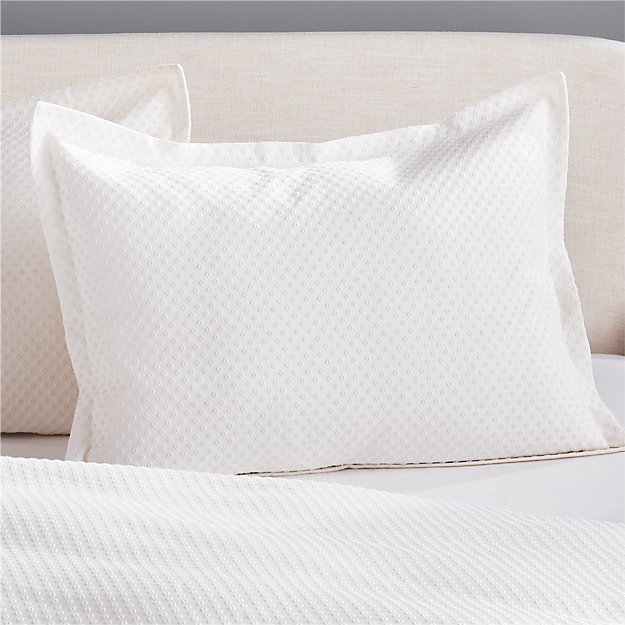 Dottie Neutral Matelasse Standard Shams Set of 2 - Image 1 of 4