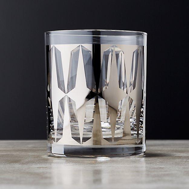 Drake Metallic Platinum Double Old Fashioned Glass - Image 1 of 12