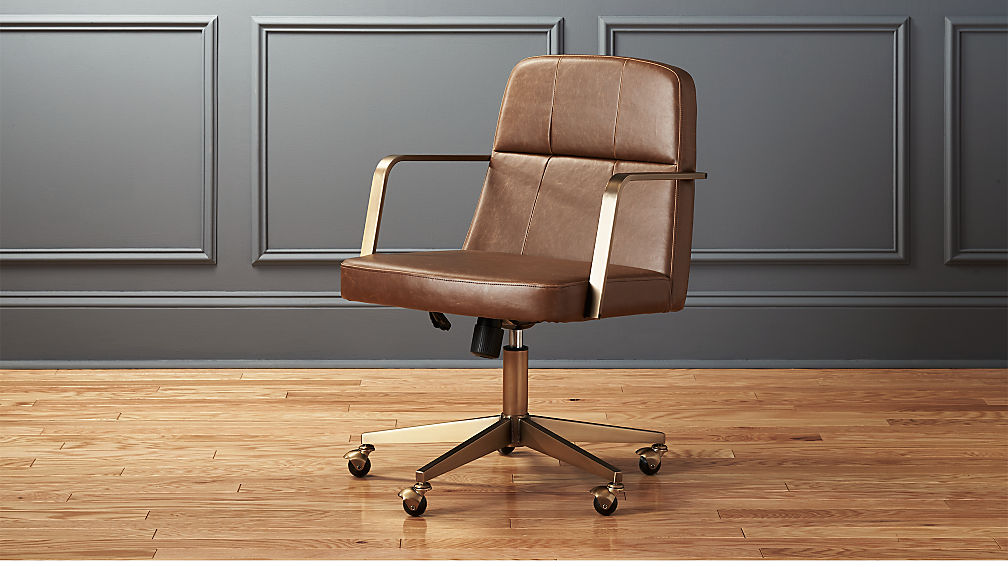 draper faux leather office chair reviews cb2