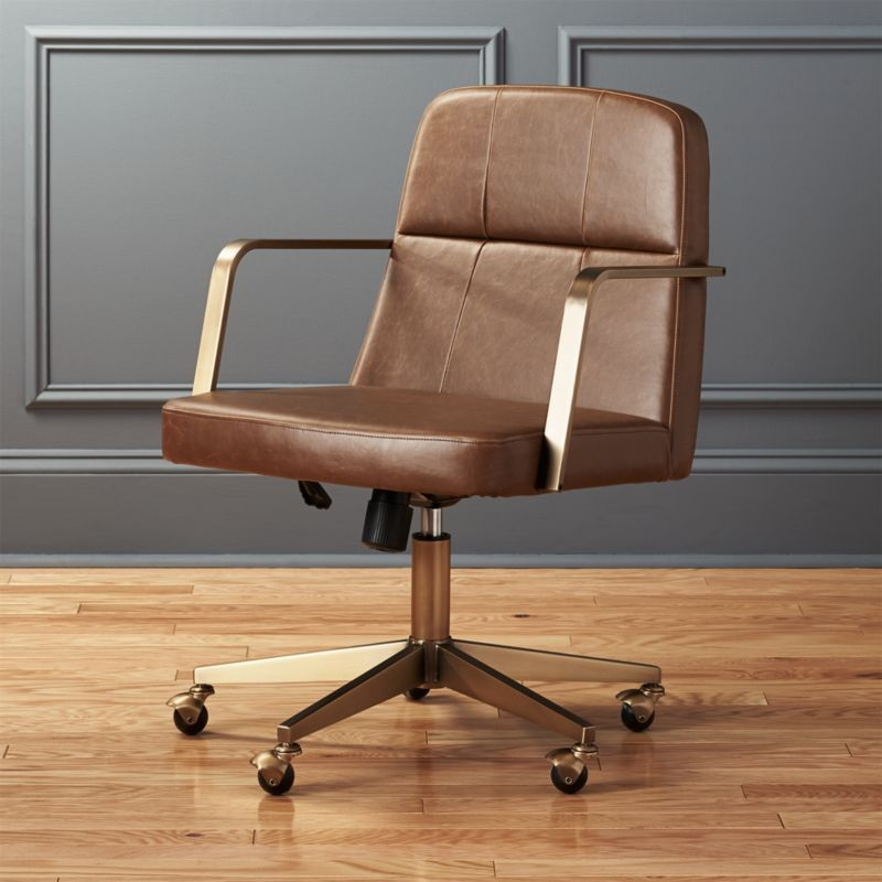 Genial Draper Faux Leather Office Chair
