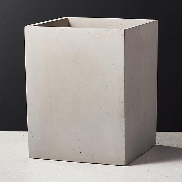 Drew Cement Waste Basket - Image 1 of 8