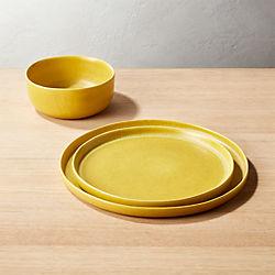 Drift Matte Yellow Dinnerware & Modern Dinnerware and Unique Dinnerware Sets   CB2