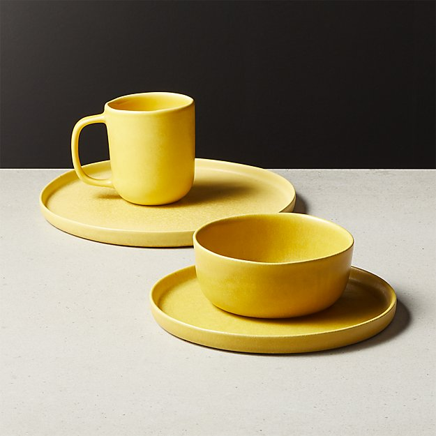Drift Matte Yellow Dinnerware - Image 1 of 9
