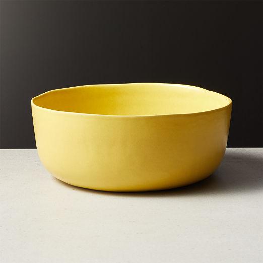 Drift Matte Yellow Serving Bowl