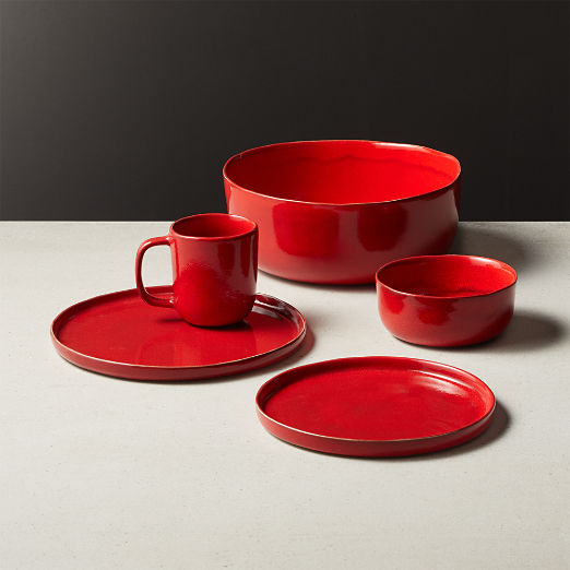 Drift Reactive Red Dinnerware