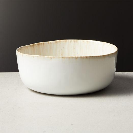 Drift Reactive Grey Serving Bowl