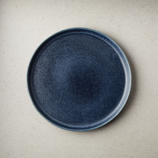 Drift Reactive Indigo Salad Plate