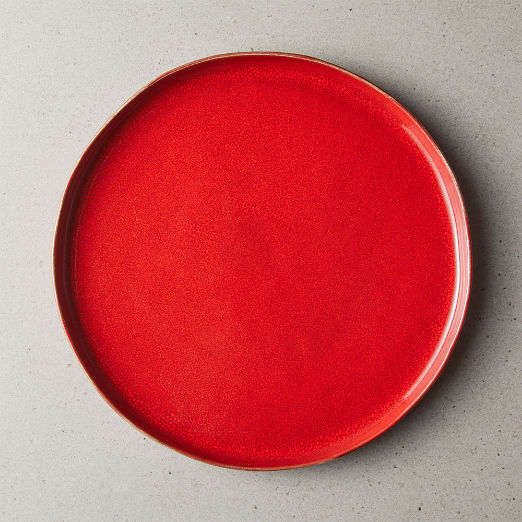 Drift Reactive Red Dinner Plate