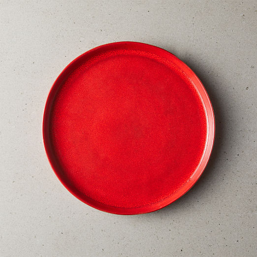 Drift Reactive Red Salad Plate