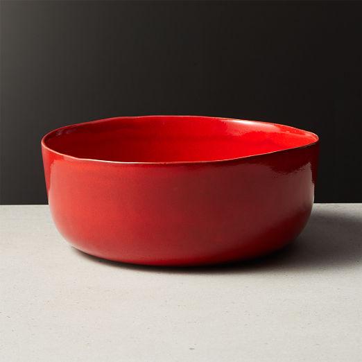 Drift Reactive Red Serving Bowl