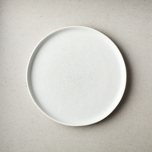 Drift Reactive Silver Grey Salad Plate