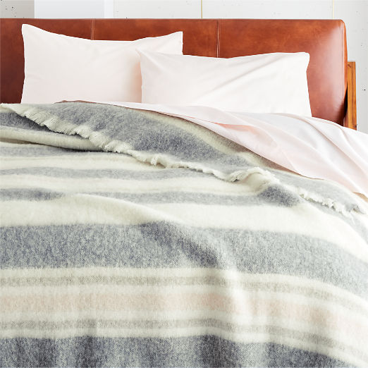 Drifter Pink and Grey Blanket