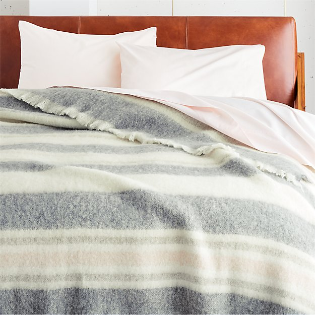 Drifter Pink and Grey Blanket - Image 1 of 3