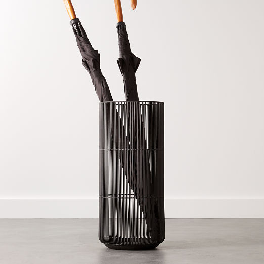 Drizzle Black Umbrella Stand