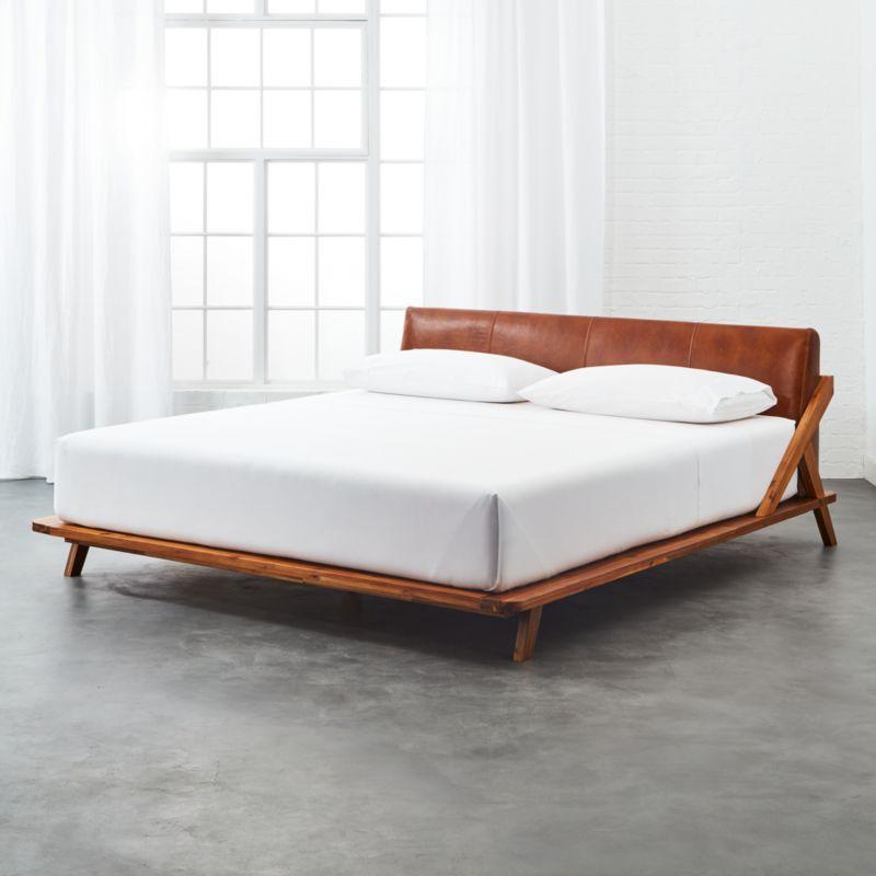 Leather Bedroom Furniture   CB2